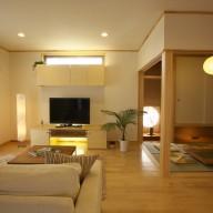 ピアノレッスン室を持つ生活動線と家事動線に優れた住い